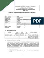 Silabo q. Organica Aplicada a Ing. de Procesos 2, 2018-A