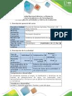 Guía de Actividades y Rúbrica de Evaluación - Primera Etapa