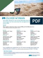Oliver Wyman Summer Receptions 2018