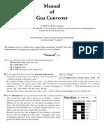 Gua Converter Manual