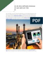 A Falta de Mano de Obra Calificada Empresas Petrolera Tienen Que Optar Por Más Automatización