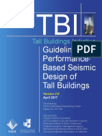 Guidelines for Performance Based Seismic Design of Tall Building(PEER, 2017))