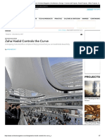 Zaha Hadid Controls the Curve Designers, Parametric Design
