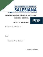 Solución Cálculo Integral