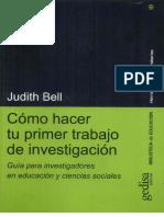 Bell, Judit - Como Hacer Tu Primer Trabajo de Investigacion