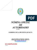 Nomina Autoridades Gobierno Salta 2018