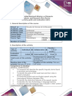 Activity Guide and Evaluation Rubrics