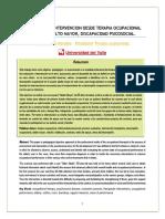 Evaluación e Intervencion Desde Terapia Ocupacional en Usuario Adulto Mayor (Autoguardado) (Autoguardado)