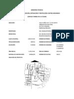 Memoria de Diseño Contra Incendios - Edificio Torres de La Colina