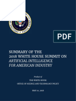 Summary Report of White House AI Summit (1)