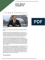 Noticia - Reformista e Imperial Macron Franca