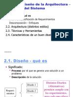 Diseño de la Arquitectura-Estructura del Sistema