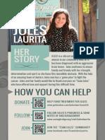 A flyer for Julietta Laurita