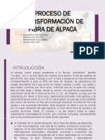 TRANSFORMACION DE FIBRA DE ALPACA