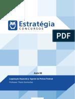 PDF Policia Federal Pre Edital Agente 2016 Legislacao Especial p Agente Da Policia Federal Aula 00