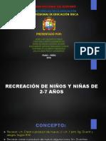 Recreacion en Los Niños de 2 a 7 Años-grupo Numero 001