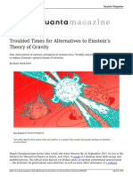 Troubled Times for Alternatives to Einsteins Theory of Gravity 20180430