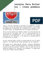 Mejores Consejos Para Evitar La Diabetes