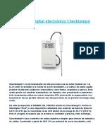 FT Termómetro digital electrónico Checktemp Hi 98509