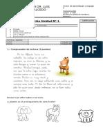 EVALUACIÓN 1° BÁSICO MÉTODO MATTE Unidad 1 Lenguaje