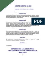Disposiciones Legales Para El Fortalecimiento de La Administración Tributaria