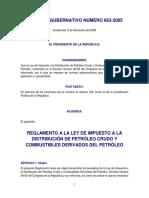 Reg. de La Ley de Bebidas Gaseosas