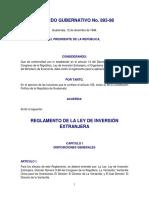 Reg. de La Ley de Fomento y Desarrollo de La Actividad Exportadora y de Maquila