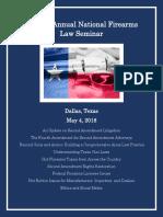 21st Annual National Firearms Law Seminar