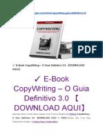 ✓ E-Book CopyWriting – O Guia Definitivo 3.0 【DOWNLOAD AQUI- BAIXAR EM PDF】