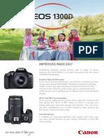 Eos 1300d Brochure