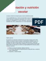 Alimentacion y Nutricion Escolar Proyecto