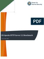 CIS Apache HTTP Server 2.2 Benchmark v3.4.1