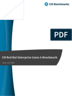 CIS Red Hat Enterprise Linux 6 Benchmark v2.1.0