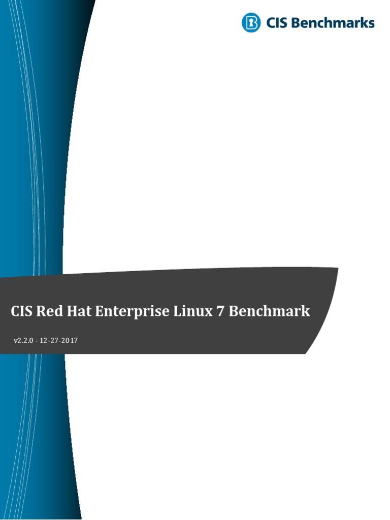 CIS Red Hat Enterprise Linux 7 Benchmark v2 2 0 | File System