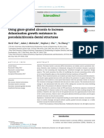 using glass-graded zirconia to increase delamination growth resistance in porcelain