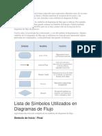 Los Diagramas de Flujo Usan Formas Especiales Para Representar Diferentes Tipos de Acciones o Pasos en Un Proceso