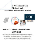 Fertility Awareness-Based Methods and Lactational