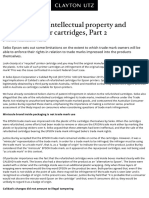 Printer Error! Intellectual Property and Recycled Printer Cartridges, Part 2 - Knowledge - Clayton Utz
