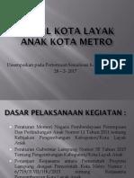 Profil Kota Layak Anak Kota Metro1 Fc