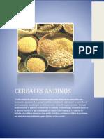 Trabajo de Investigación Sobre Cereales Andinos
