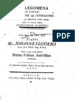 Aurivillius Et Floderus.prolegomena Ad Librum Stephanites
