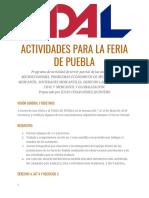 Actividades Para La Feria de Puebla