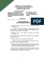 Judicial Affidavit of Atty Dennis m. Timajo