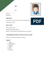 Curriculum Luis Eduardo Pozo