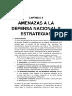 Amenazas a La Defensa Nacional y Estrategias 1