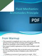 Lecture 02 Archimedes Principle