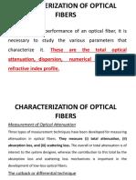 Characterization of Optical Fibers