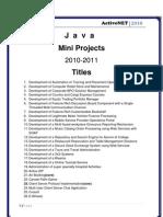 Java Titles