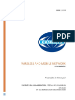 Wireless and Mobile Network Assignment 2 # 1G, 2G, 3G, 4G