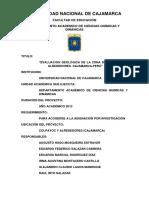Evaluacion Geologica de La Zona de Colpayoc y Alrededores
